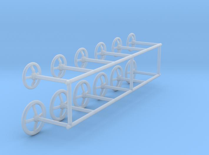 Handwheels 1:50 3d printed