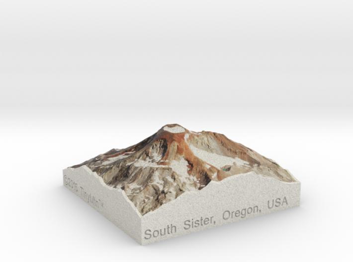 South Sister, Oregon, USA, 1:50000 3d printed