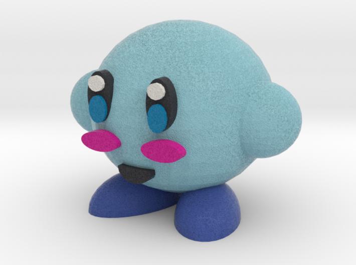 Blue Kirby 3d printed