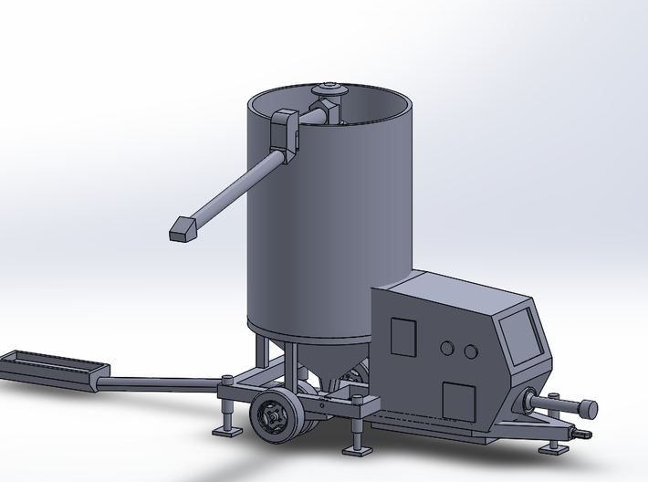 N-scale Portable Grain Dryer - Working 3d printed