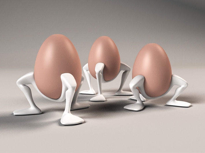 "Egg cup ""Leggies"" 3d printed 3 sizes egg cups 'Leggy''"