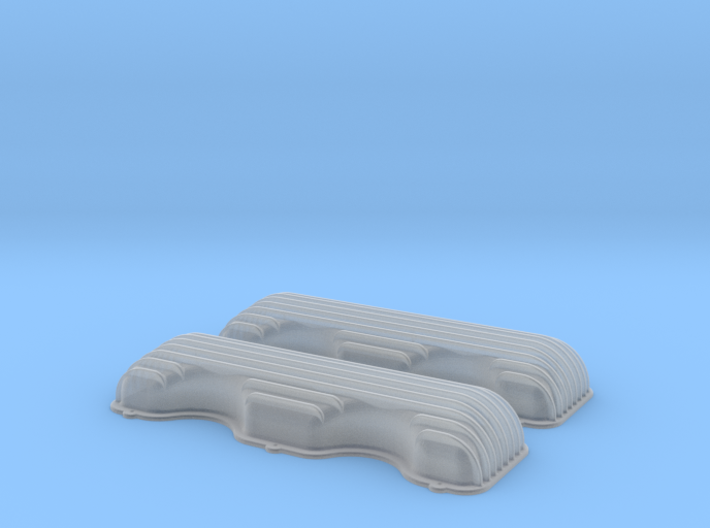 1/24 409 Finned Valve Covers File 3d printed