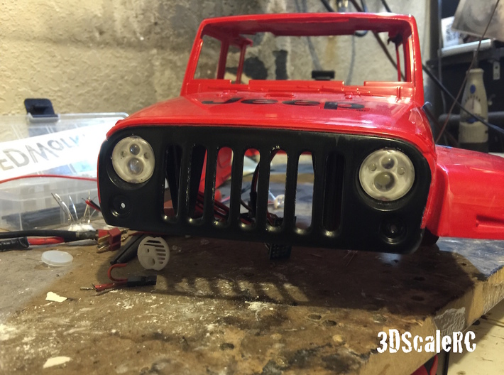 New Bright RC - JEEP JK - Scale LED Headlight - A 3d printed