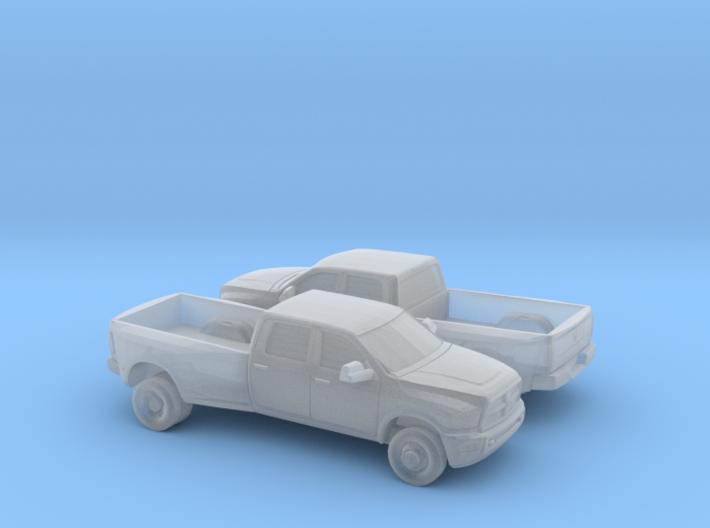 1/160 2X 2012 Dodge Ram 3500 Long Bed Dually 3d printed