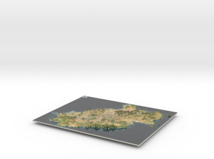 Ibiza Map, Spain 3d printed