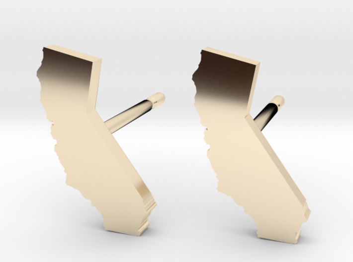 California State Earrings, post style 3d printed