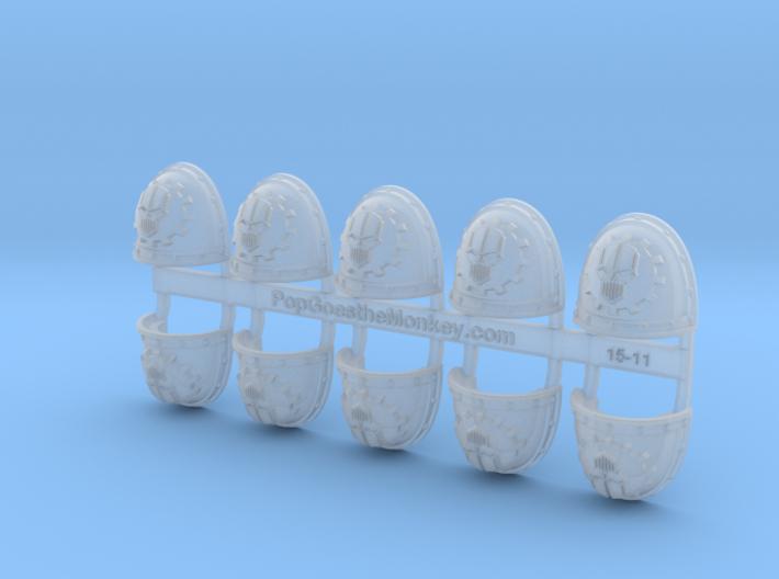 Mechanized Skull- Gen2:Crusader Shoulder x10 3d printed