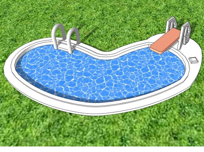 10mm Swimming Pool (Irregular Shape) 3d printed