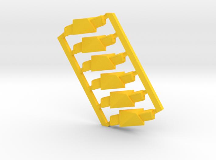 Yellow-6-hypershort-sprued 3d printed