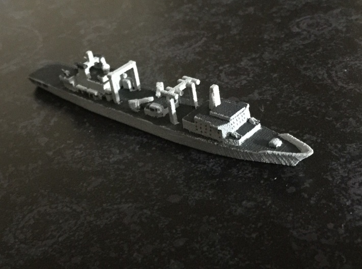 Type 903A replenishment ship, 1/1800 3d printed Painted Sample