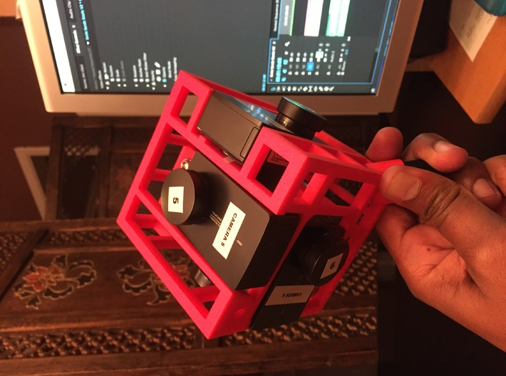 Brahma6 Yi4k proRes 360 video rig 3d printed