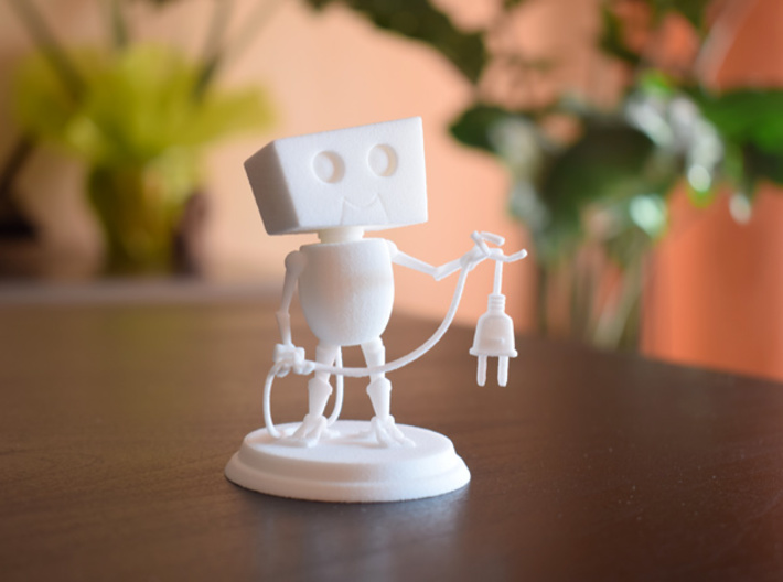 Plug me in 3d printed [Photo] The model, printed in WSF material