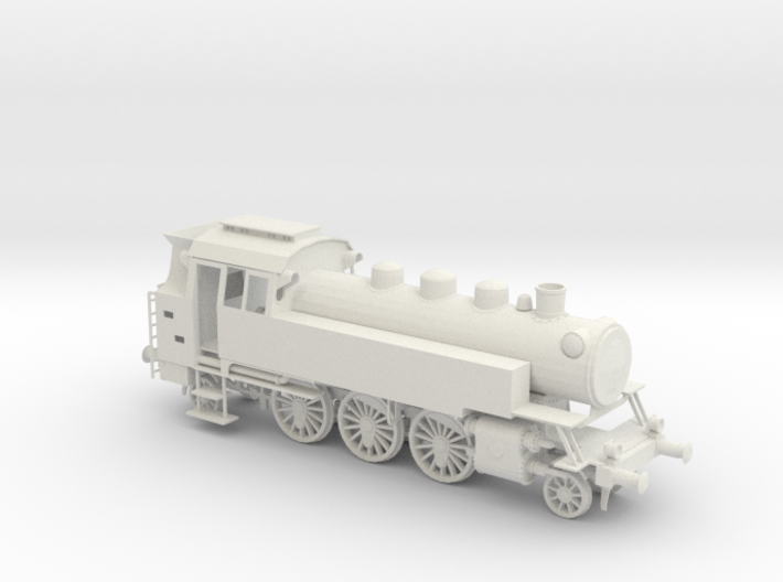 "LOV001 German Steam loco Br 64 ""Kriegslokomotive"" 3d printed"