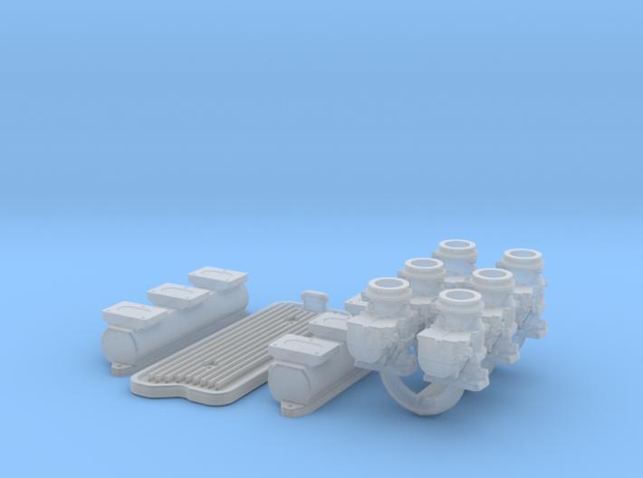 1/24 6X2 Buick Nailhead Intake System 3d printed