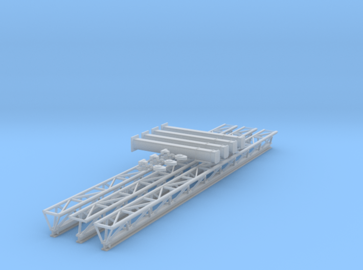 O Scale Fall Protection Truss 3d printed
