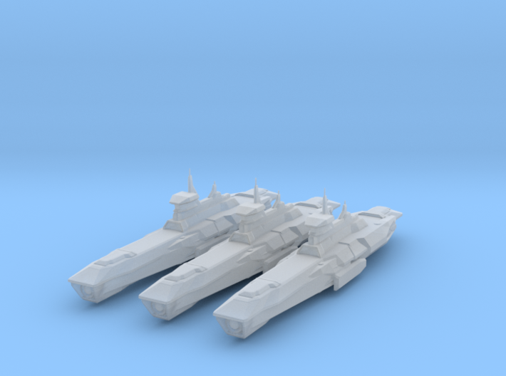 Araan Dynasty Light Cruiser 3 Pack 3d printed