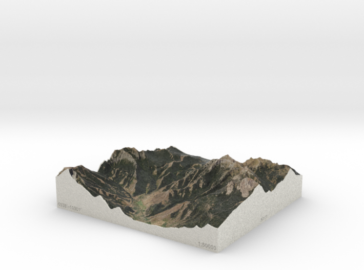 Tom Minor Basin 2x, Montana, USA, 1:50000 3d printed