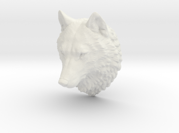 Proud Wolf head 3d printed