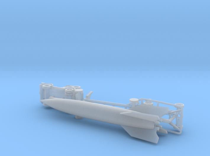 V2 Missile Tansporter Vidalwagen w. Tractor 1/220  3d printed