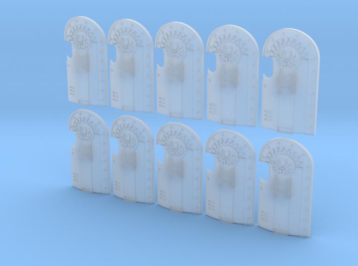 10x Scarab Legion 4- Marine Boarding Shields 3d printed