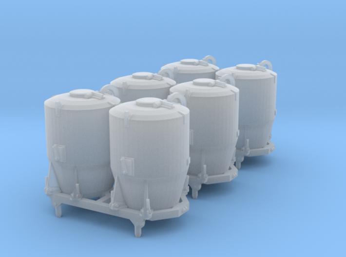 SET 3x Dzkr 501 Behälter (Roco) (N 1:160) 3d printed