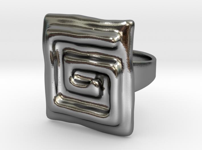 Vortex Squared Ring 3d printed