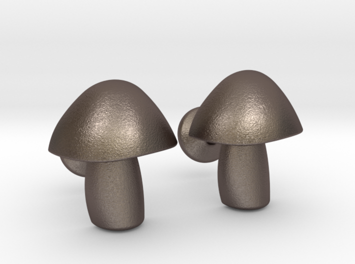 Mushroom Cufflinks 3d printed