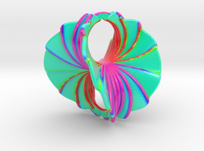 Hyperbole 03 Color Sculpture 3d printed