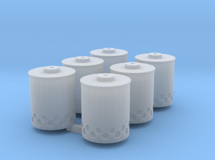 48th Scale Smoke Potsx6 3d printed