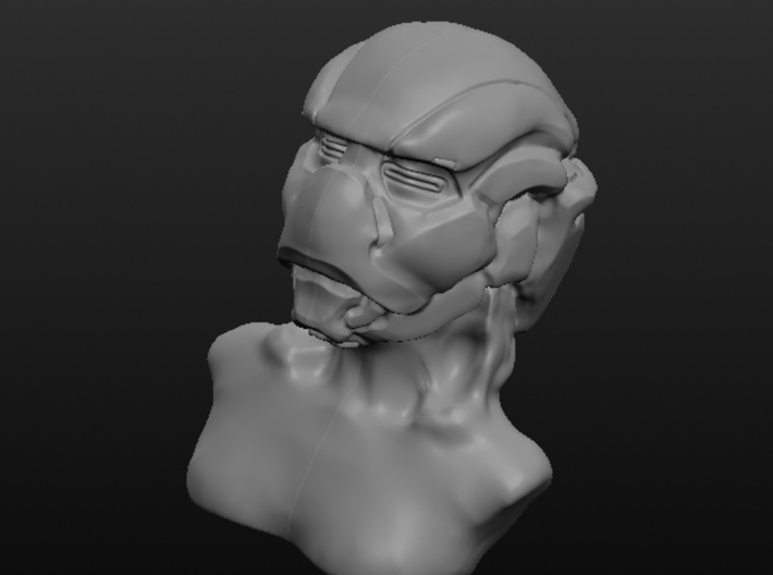 Masked Woman 3d printed Front