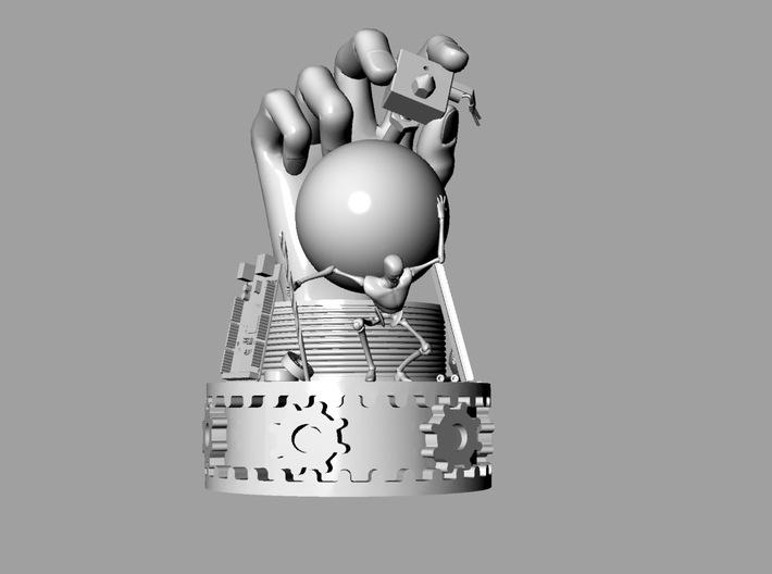 Techcrunch Hardware Battlefield Trophy 3d printed Rhino Rendering for the Win!