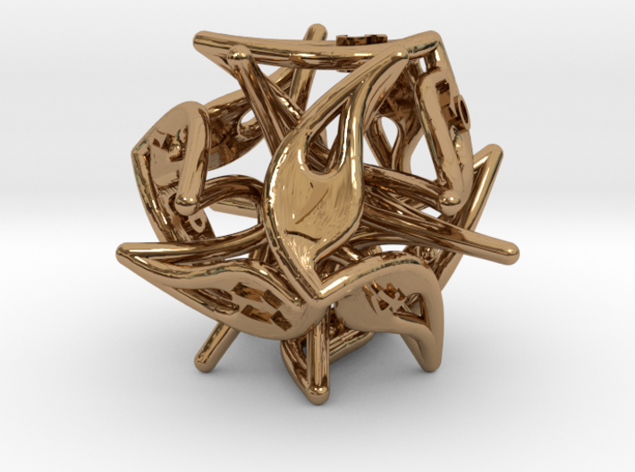 Curlicue 12-Sided Dice 3d printed