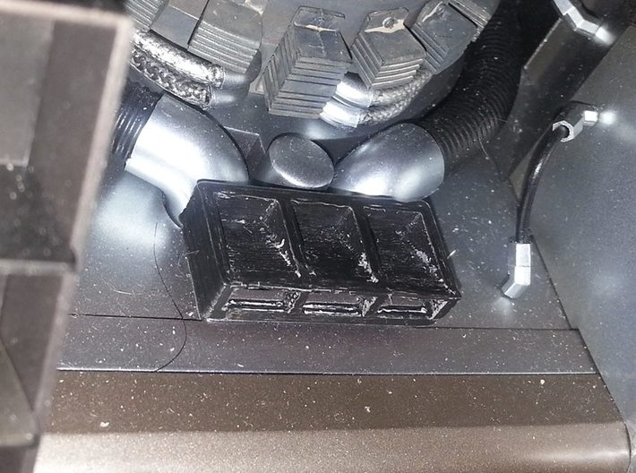 """For 1/6 """"Hot toys delorean"""" rear detail 3d printed"""