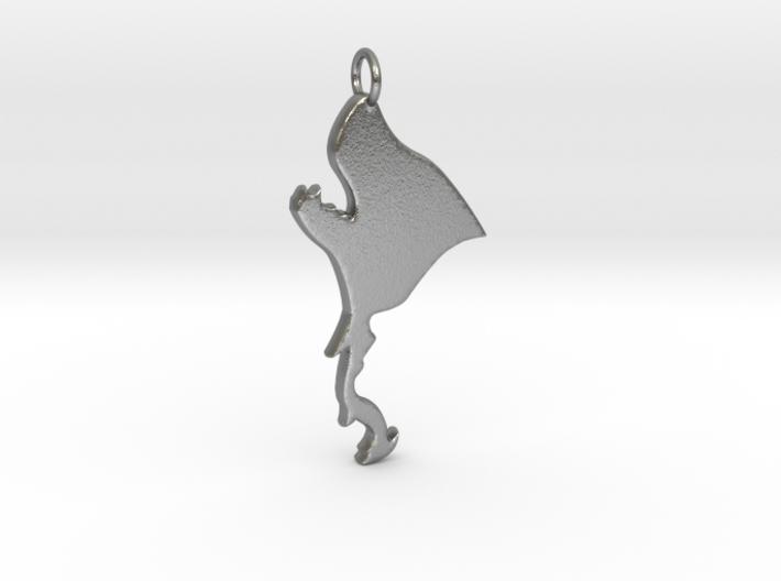 Werewolf Pendant 3d printed