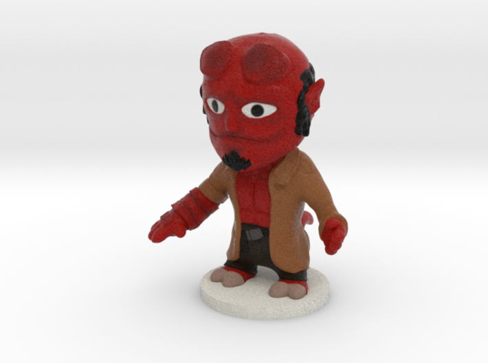 Hellboy W base 3d printed
