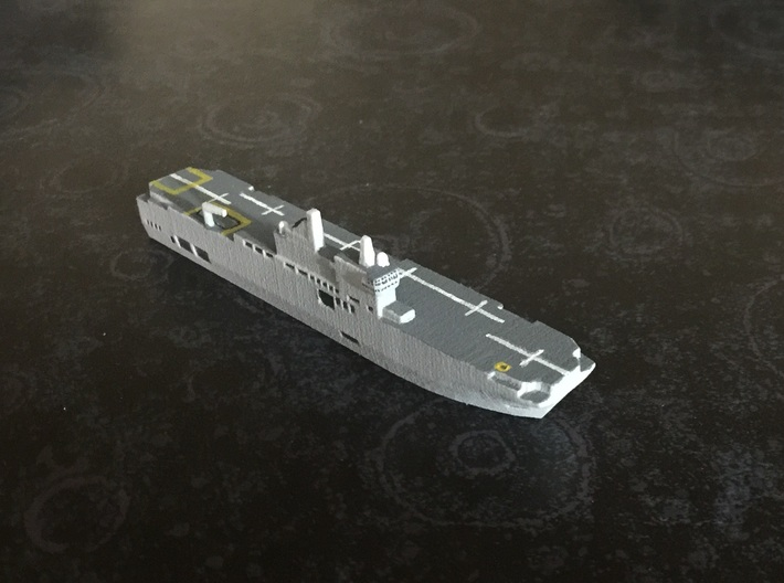 Mistral-class LHD, 1/1800 3d printed Painted sample