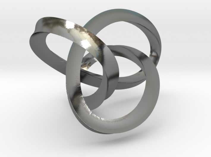 3-Sided Figure 8 Knot Pendant 3d printed