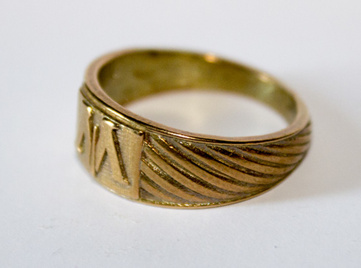 Magic is Might Ring 3d printed