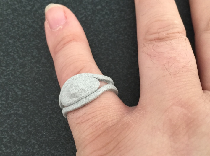 The Eye Ring 3d printed