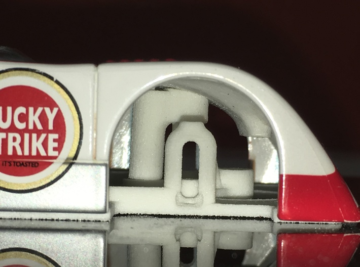 Fly/GB Chevron B19/B21;Slot Car Chassis 3d printed test fit on body