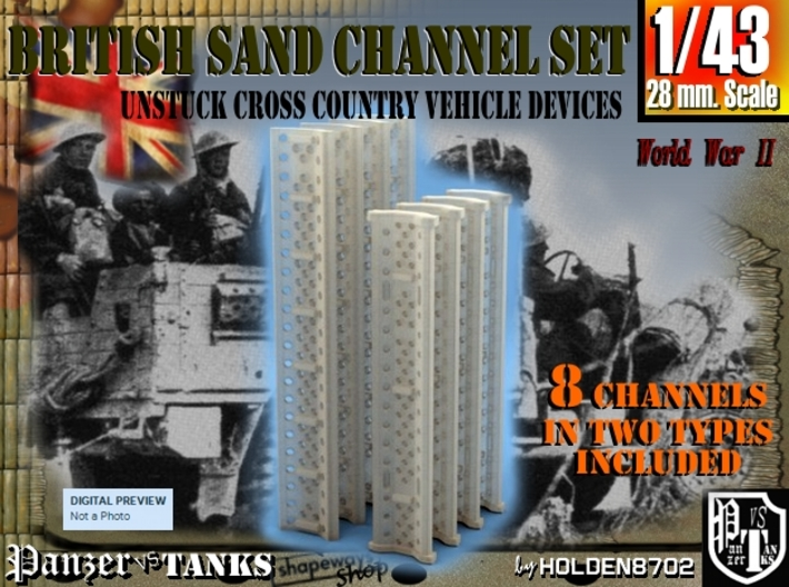 1-43 British Sand Channel Set 3d printed