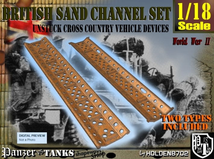 1-18 British Sand Channel Set 3d printed