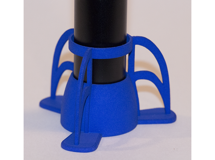 The Rocket e-cig Stand 25mm Type 2 3d printed Blue Strong & Flexible Polished (e-cigarette not included).