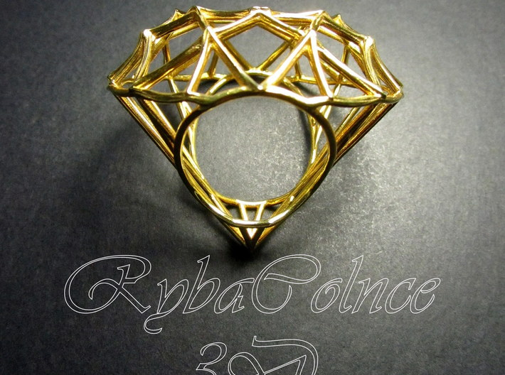 Ring The Diamond/ size 10HK 5US ( 16.1 mm) 3d printed