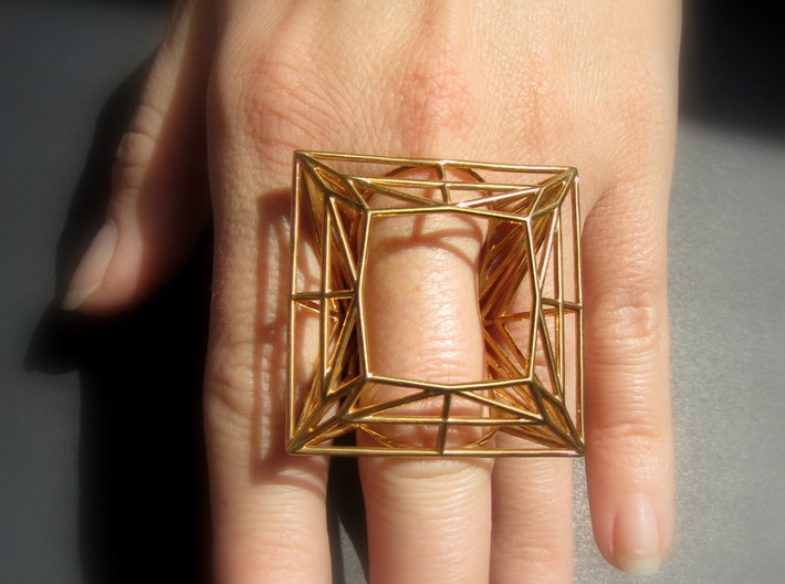Ring The Diamond / size 20 HK  9 US (18.8 mm) 3d printed