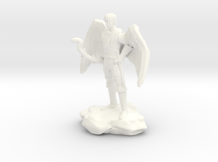 Winged Half-celestial with bow and sword 3d printed