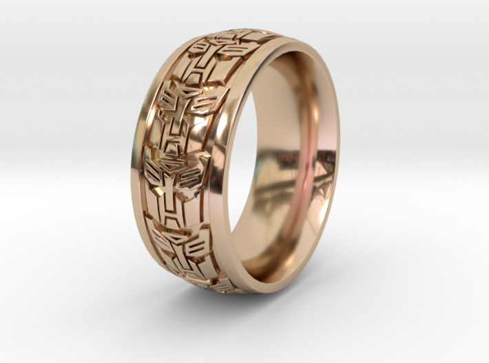 ROBOT RING 1 SIZE 9.5 3d printed