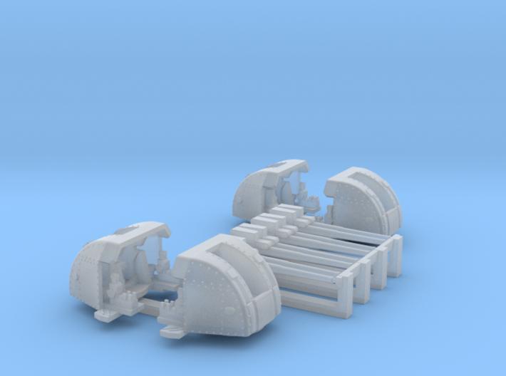 1/450 RN 4 Inch Twin MKXVI Gun x4 3d printed 1/450 RN 4 Inch Twin MKXVI Gun x4