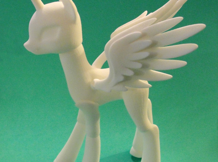 Celestia Alicorn Large Version BJD Pony 3d printed