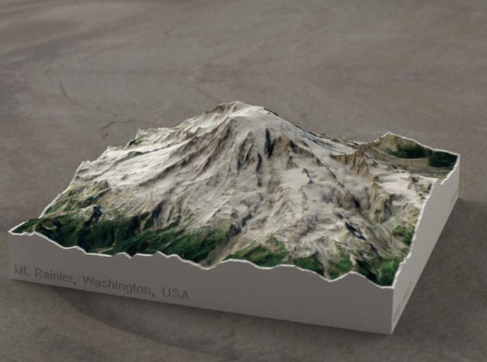 Mt. Rainier, Washington, USA, 1:100000 Explorer 3d printed